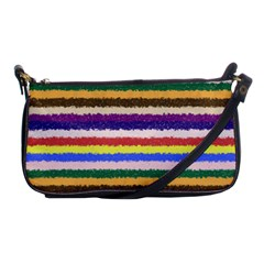 Horizontal Vivid Colors Curly Stripes   1 Evening Bag by BestCustomGiftsForYou