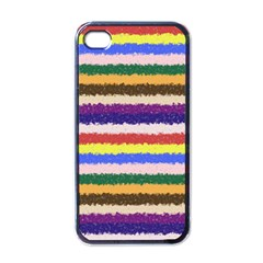Horizontal Vivid Colors Curly Stripes   1 Apple Iphone 4 Case (black) by BestCustomGiftsForYou