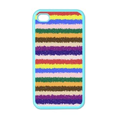 Horizontal Vivid Colors Curly Stripes   1 Apple Iphone 4 Case (color) by BestCustomGiftsForYou