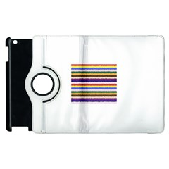 Horizontal Vivid Colors Curly Stripes   1 Apple Ipad 2 Flip 360 Case by BestCustomGiftsForYou