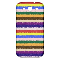Horizontal Vivid Colors Curly Stripes   1 Samsung Galaxy S3 S Iii Classic Hardshell Back Case by BestCustomGiftsForYou