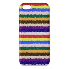 Horizontal Vivid Colors Curly Stripes   1 Apple Iphone 5 Premium Hardshell Case by BestCustomGiftsForYou