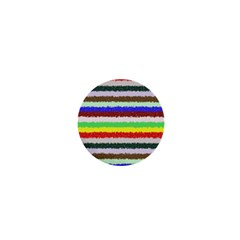 Horizontal Vivid Colors Curly Stripes   2 1  Mini Button Magnet by BestCustomGiftsForYou