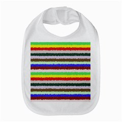 Horizontal Vivid Colors Curly Stripes   2 Bib by BestCustomGiftsForYou