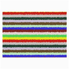 Horizontal Vivid Colors Curly Stripes   2 Glasses Cloth (large) by BestCustomGiftsForYou
