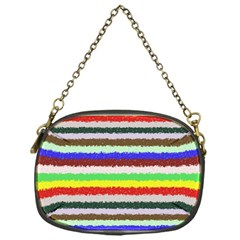 Horizontal Vivid Colors Curly Stripes   2 Chain Purse (one Side) by BestCustomGiftsForYou