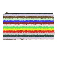 Horizontal Vivid Colors Curly Stripes   2 Pencil Case by BestCustomGiftsForYou