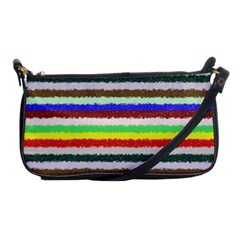 Horizontal Vivid Colors Curly Stripes   2 Evening Bag by BestCustomGiftsForYou