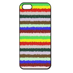 Horizontal Vivid Colors Curly Stripes   2 Apple Iphone 5 Seamless Case (black) by BestCustomGiftsForYou