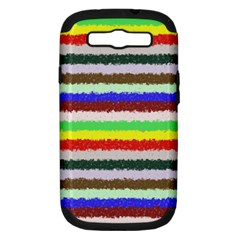 Horizontal Vivid Colors Curly Stripes   2 Samsung Galaxy S Iii Hardshell Case (pc+silicone) by BestCustomGiftsForYou