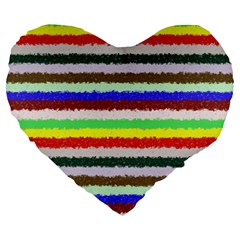 Horizontal Vivid Colors Curly Stripes   2 19  Premium Heart Shape Cushion by BestCustomGiftsForYou