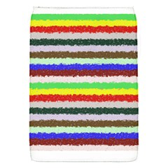 Horizontal Vivid Colors Curly Stripes   2 Removable Flap Cover (small) by BestCustomGiftsForYou