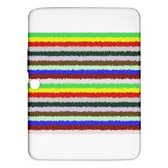 Horizontal Vivid Colors Curly Stripes   2 Samsung Galaxy Tab 3 (10 1 ) P5200 Hardshell Case  by BestCustomGiftsForYou