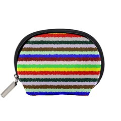 Horizontal Vivid Colors Curly Stripes   2 Accessory Pouch (small)
