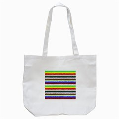 Horizontal Vivid Colors Curly Stripes   2 Tote Bag (white) by BestCustomGiftsForYou