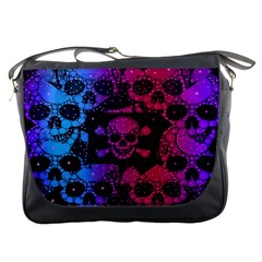 Girly Skull&Bone Messenger Bag by OCDesignss