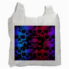 Skull&bones Pop White Reusable Bag (two Sides) by OCDesignss