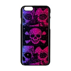 Skull&bones Pop Apple Iphone 6 Black Enamel Case by OCDesignss