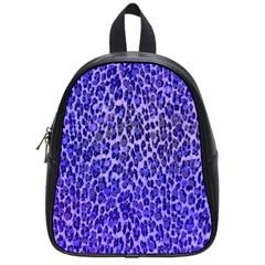 Blue Leopard  School Bag (small) by OCDesignss