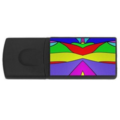 Abstract 4gb Usb Flash Drive (rectangle) by Siebenhuehner