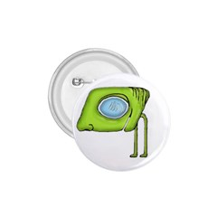 Funny Alien Monster Character 1 75  Button by dflcprints