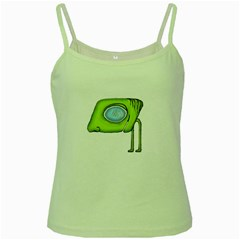 Funny Alien Monster Character Green Spaghetti Tank by dflcprints