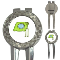 Funny Alien Monster Character Golf Pitchfork & Ball Marker by dflcprints
