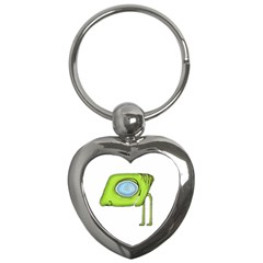 Funny Alien Monster Character Key Chain (heart) by dflcprints