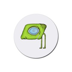 Funny Alien Monster Character Drink Coasters 4 Pack (round) by dflcprints