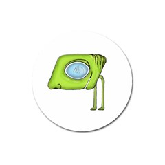 Funny Alien Monster Character Magnet 3  (round) by dflcprints
