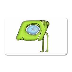 Funny Alien Monster Character Magnet (rectangular) by dflcprints