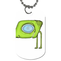 Funny Alien Monster Character Dog Tag (two Sided)  by dflcprints