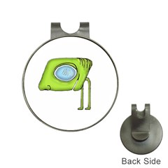 Funny Alien Monster Character Hat Clip With Golf Ball Marker by dflcprints