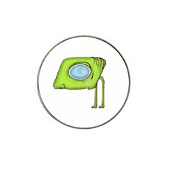 Funny Alien Monster Character Golf Ball Marker (for Hat Clip) by dflcprints