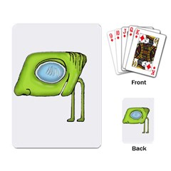 Funny Alien Monster Character Playing Cards Single Design by dflcprints