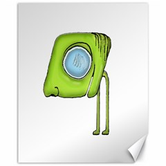 Funny Alien Monster Character Canvas 11  X 14  (unframed) by dflcprints