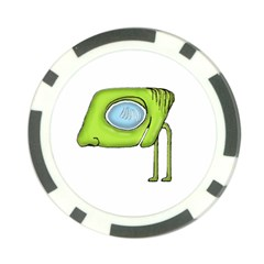 Funny Alien Monster Character Poker Chip (10 Pack) by dflcprints