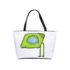 Funny Alien Monster Character Large Shoulder Bag by dflcprints