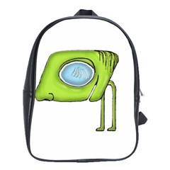 Funny Alien Monster Character School Bag (large) by dflcprints