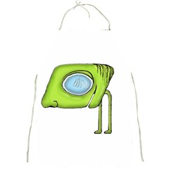 Funny Alien Monster Character Apron by dflcprints