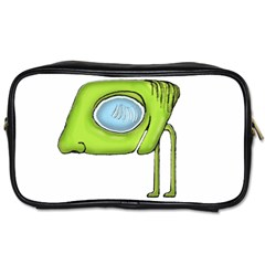 Funny Alien Monster Character Travel Toiletry Bag (two Sides) by dflcprints