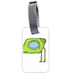 Funny Alien Monster Character Luggage Tag (one Side) by dflcprints