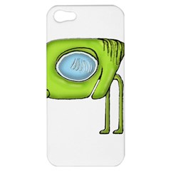 Funny Alien Monster Character Apple Iphone 5 Hardshell Case by dflcprints