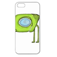 Funny Alien Monster Character Apple Seamless Iphone 5 Case (clear) by dflcprints