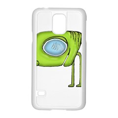 Funny Alien Monster Character Samsung Galaxy S5 Case (white) by dflcprints