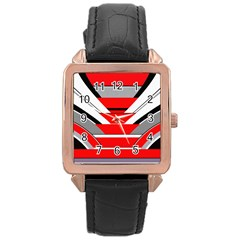 Fantasy Rose Gold Leather Watch  by Siebenhuehner
