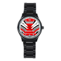 Fantasy Sport Metal Watch (black) by Siebenhuehner