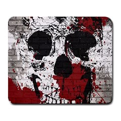 Skull Grunge Graffiti  Large Mouse Pad (rectangle) by OCDesignss