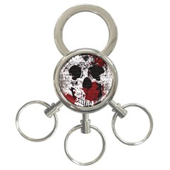 Skull Grunge Graffiti  3 Ring Key Chain by OCDesignss