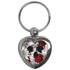 Skull Grunge Graffiti  Key Chain (heart) by OCDesignss